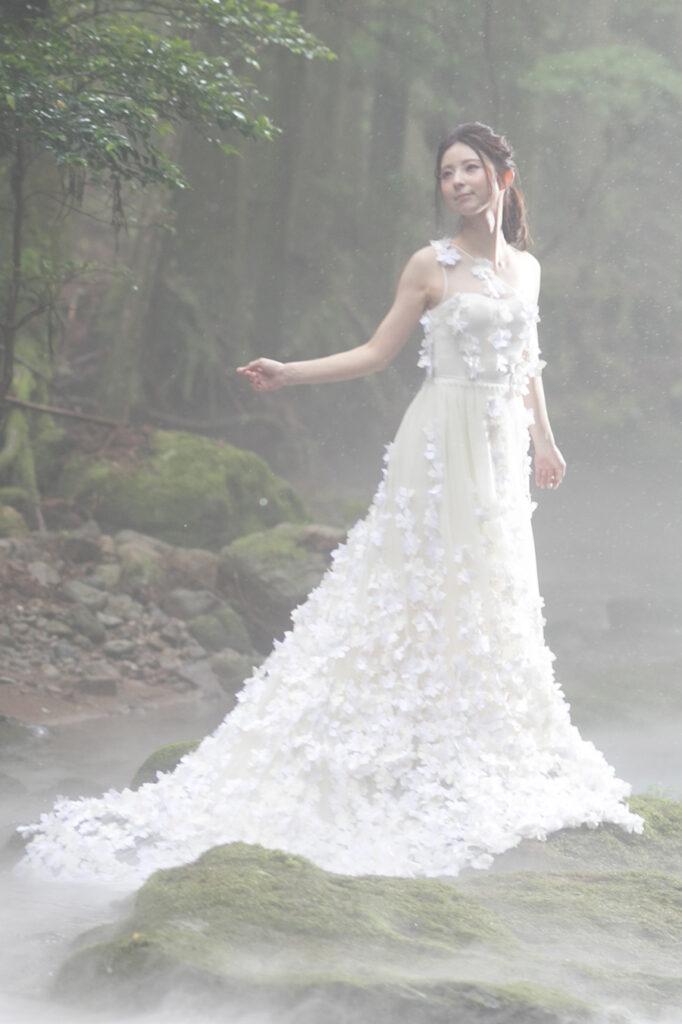 小さな結婚式の公式サイトより有料で選べるウェディングドレス
