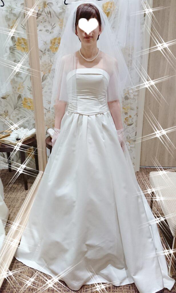 本番同様に着用したウエディングドレスの写真