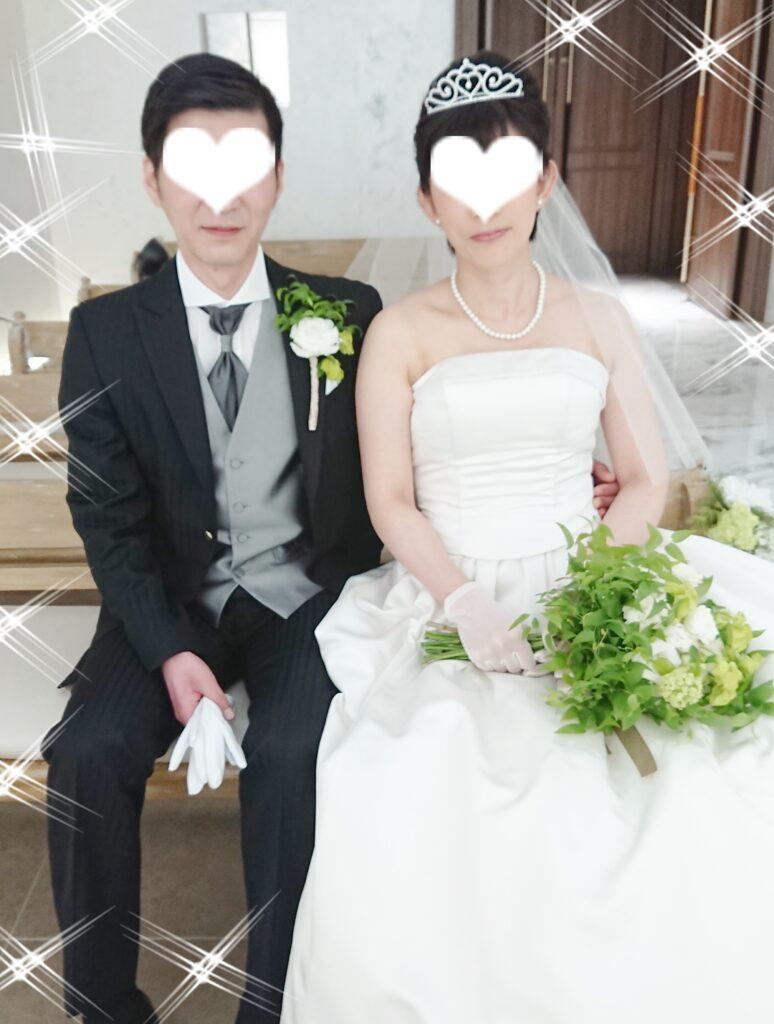 結婚式の予行練習でのオフショット